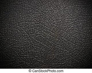 leder, op, zwarte achtergrond, afsluiten, glanzend