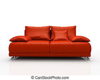 sofa modern freigestellt hintergrund wei rot. Black Bedroom Furniture Sets. Home Design Ideas