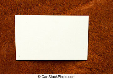 leder, tekst, papierbord, achtergrond, witte , jouw