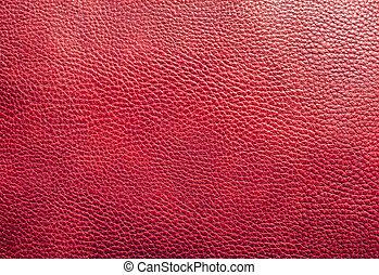 leder, textuur, achtergrond, rood