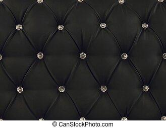 leder upholstery, black