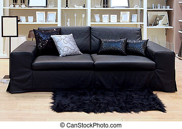 lederene sofa, kamer, levend