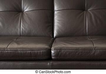 lederene sofa, op einde