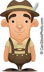Lederhosen Man - Cartoon Character
