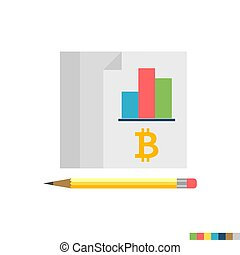 Ledger Related Flat Vector Icon. Isolated on White Background. Trendy Flat Style.