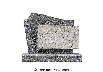 ledig, grab, stein, ausschneiden, (clipping, path)