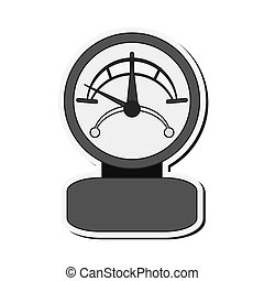 ledig, manometer, ikone