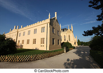Lednice Castle - Beautiful Castle of Lednice in the Czech...