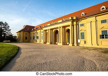 Lednice castle Chateau in Moravia, Czech Republic. UNESCO ...
