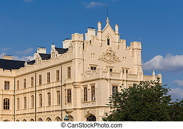 Lednice Castle in South Moravia in the Czech Republic -...
