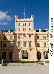 Lednice Castle in South Moravia in the Czech Republic -...