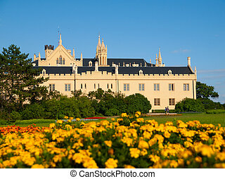 Lednice Chateau on summer day