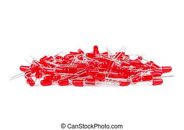 led's, 紅色, 堆, 新, 5mm