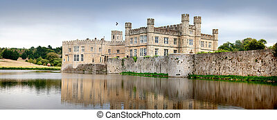 Leeds Castle, Kent, UK - Medieval castle of Leeds, in kent,...