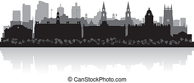Leeds city skyline silhouette