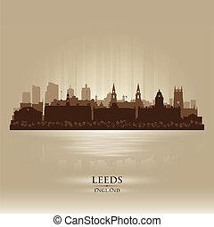 Leeds England skyline city silhouette