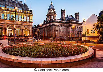 leeds townhall from millenium - Leeds town hall used for...