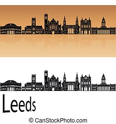 Leeds V2 skyline in orange