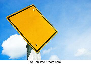 leeg, geel teken