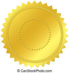 leeg, gouden zegel