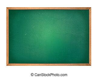 leeg, groene, school, chalkboard