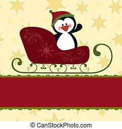 leeg, mal, voor, kerstmis, begroetenen, kaart