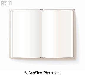 leeg, opengeslagen boek
