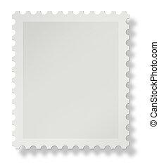 leeg, postzegel