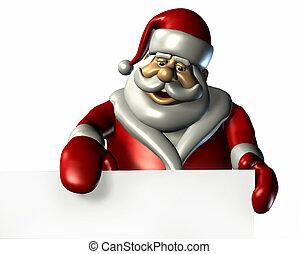 leeg, rand, kerstman, meldingsbord