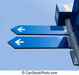 leeg, richting, wegaanduidingen