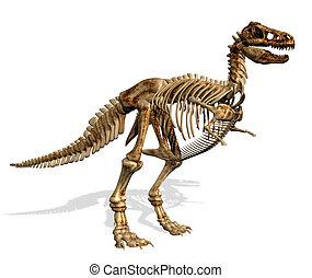 leeg teken, skelet, t-rex