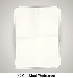 leeg, vector, illustratie, papieren