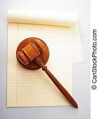 leeg, wettelijke beschermlaag, en, wet, gavel