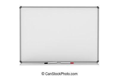 leeg, whiteboard