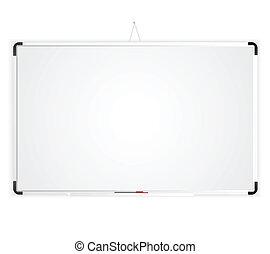 leeg, whiteboard, ruimte