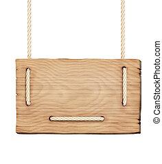 leeg, wooden board