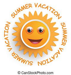 leende sol, sommar ferier