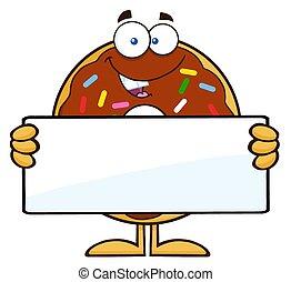 leer, besitz, zeichen, donut