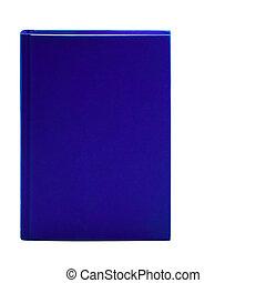 leer, blaues, gebundenes buch, freigestellt, weiß, hintergrund, mit, kopieren platz