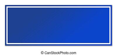 leer, blaues, straßenschild