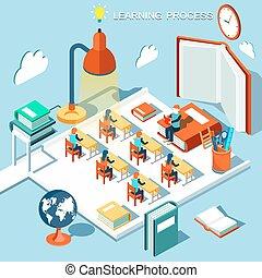 leer, concepto, libros, aprendizaje