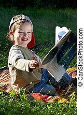 leer, estudios, niño