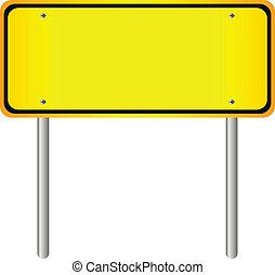 leer, gelbe straße, zeichen