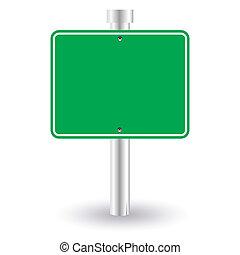 leer, grün, zeichen
