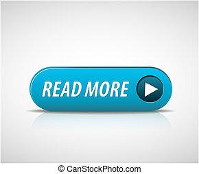 leer, grande, botón, más