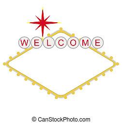 leer, herzlich willkommen, zu, las vegas, zeichen