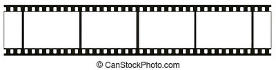leer, hoch, ausführlich, echte , 35mm, schwarzweiss, negativ, film, rahmen, film, korn, staub, und, kratzer, sichtbar, freigestellt, weiß, hintergrund