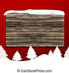 leer, holz, brett, winter, weihnachten, design, hintergrund