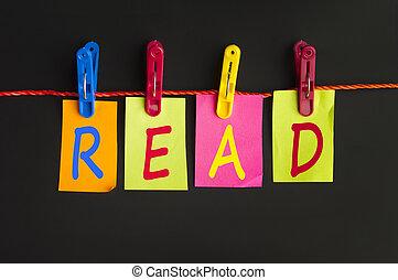 leer, palabra