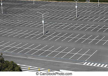 leer, parkplatz